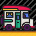 surf, van, transportation, automobile, car