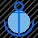 anchor, beach, sea, ship, summer