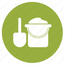 beach, bucket, holiday, sand, sand games, summer, vacation icon