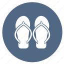 flipflop, footwear, sandals, slipper, slippers, summer icon
