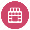 summer, apartment, building, hotel, lodging icon