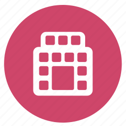 apartment, building, hotel, lodging, summer icon