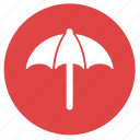 beach, beach umbrella, holiday, summer, umbrella, vacation icon