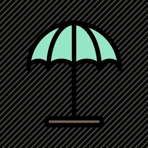 beach, hot, relaxation, summer, umbrella icon