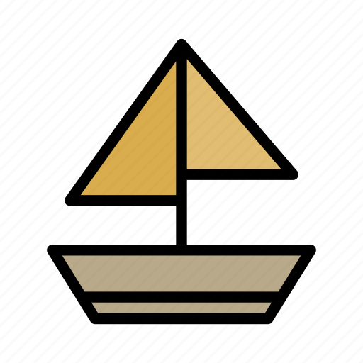 beach, boat, summer, travel icon