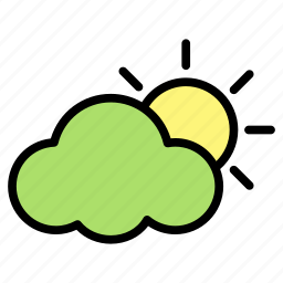 cloud, hot, relaxation, summer, sun icon