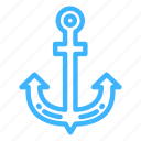 anchor, beach, summer, trip, vacation icon