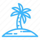 beach, palm, summer, trip, vacation icon