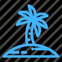beach, palm, summer, trip, vacation