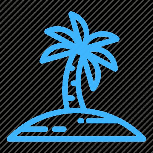 beach, palm, summer, trip, vacation icon