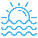 beach, summer, sun, trip, vacation icon