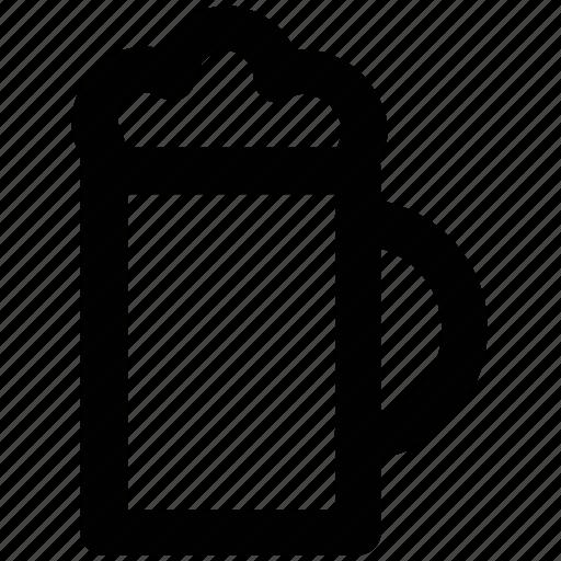 alcohol, ale, beer, beer mug, chilled beer, drink icon