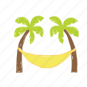 beach, coconut tree, tree, wave icon
