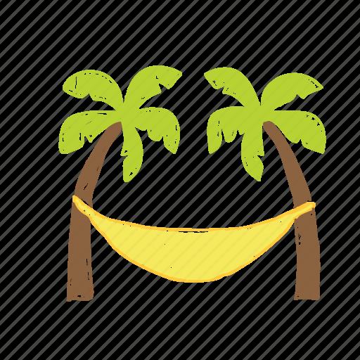 beach, coconut tree, tree, wave icon