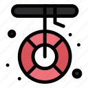 boat, camping, help, melting, rescue icon