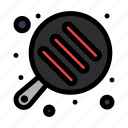 camping, cooking, pan icon