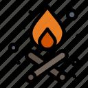 bonfire, campfire, fire icon