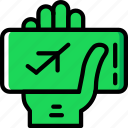 holiday, plane, summer, ticket, vacation icon