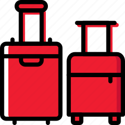 holiday, luggage, summer, vacation icon