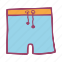 bathing, pool, sea, shorts, swimming, swimsuit icon