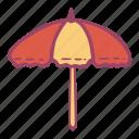 beach, sea, summer, sunny, umbrella icon