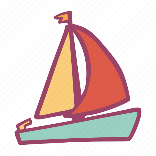 boat, sailing, sea, summer, transportation, travel icon