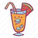 beverage, cold, drink, lemonade, summer icon