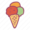 cold, cream, ice, ice cream, snack, summer, sweet icon