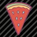fruit, slice, summer, watermelon icon