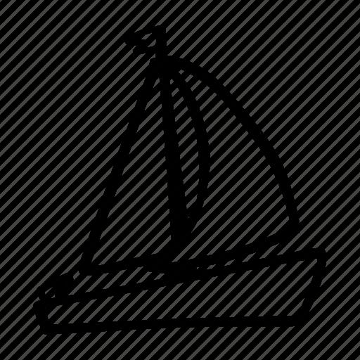 boat, sailing, sea, summer, transportation icon