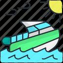 beach, boat, holiday, ship, summer, travel, vacation