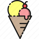 cone, cream, dessert, ice, summer, sweet, vacation icon