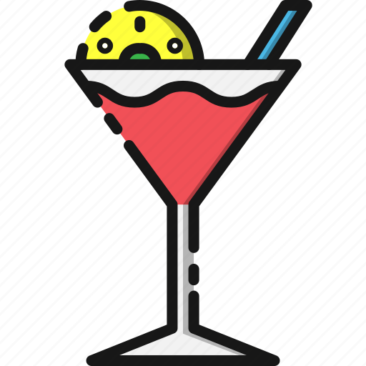 alcohol, cocktail, drink, food, glass, restaurant, summer icon