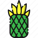 beach, food, fruit, holiday, pineapple, summer, sweet icon
