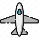 airplane, beach, holiday, summer, transportation, travel, vacation icon