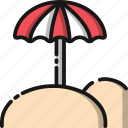 beach, holiday, sea, summer, travel, umbrella, vacation icon