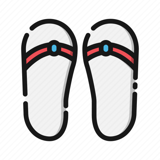 beach, holiday, sandals, sea, summer, travel, vacation icon