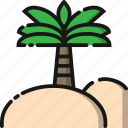 beach, coconut, holiday, nature, summer, travel, tree icon
