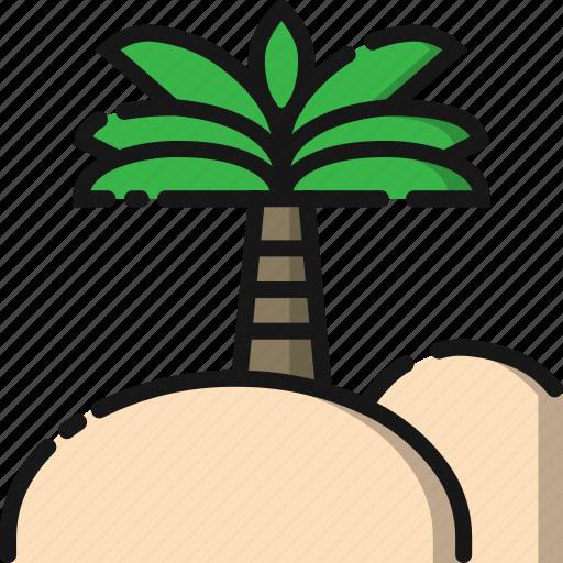 beach, coconut, holiday, nature, summer, travel, tree icon