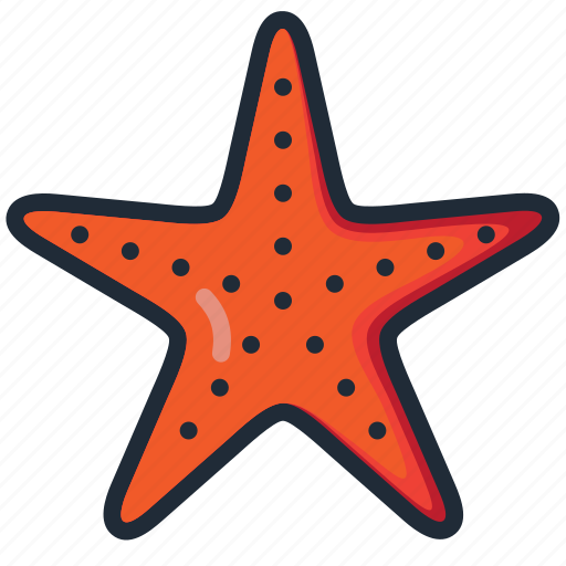 beach, ocean, sea, star fish, summer, vacation, water icon
