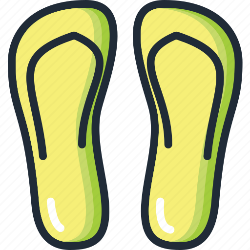 beach, flip flops, ocean, sand, sea, summer, vacation icon