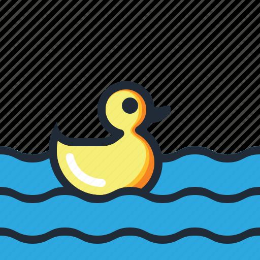 beach, duck, ocean, sea, summer, vacation, water icon