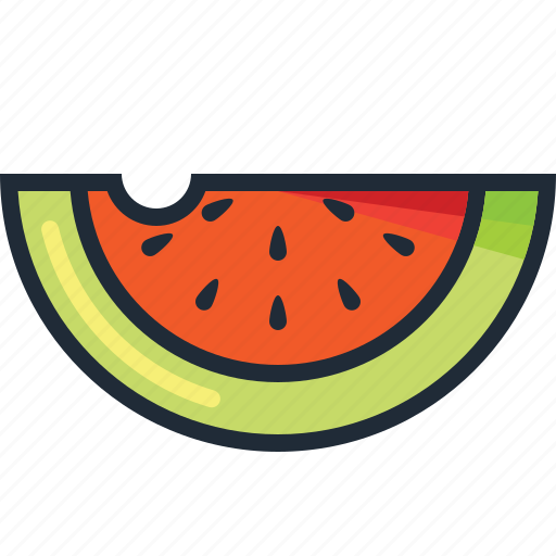 dessert, fresh, fruit, holiday, summer, vacation, water melon icon