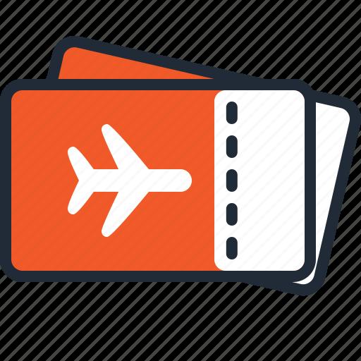 airplane, beach, summer, tickets, travel, trip, vacation icon