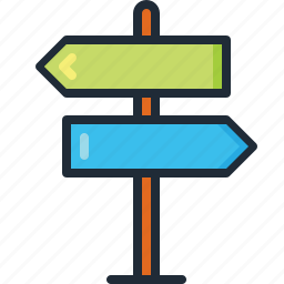 direction, holiday, road sign, summer, travel, trip, vacation icon