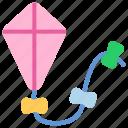 cloud, fly, kite, kites, wind icon