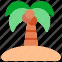 holiday, palm, palmtree, tree, tropical icon