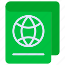 passport, permission, refugee, visa icon