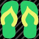 flip, flop, sandals, shoes, thongs icon