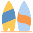 beach, surfboarding, surfing, vacation icon